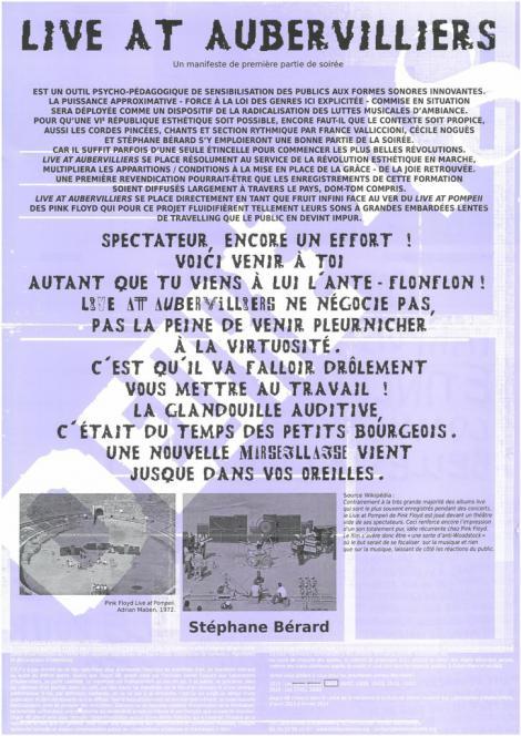 Manifestes imprimés - 7/9  - recto