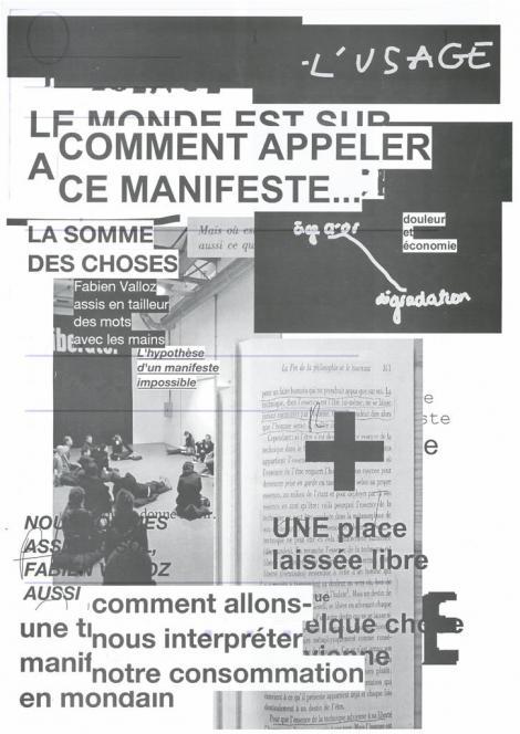 Manifestes imprimés - 2/9  - verso