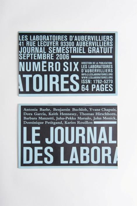 Le Journal des Laboratoires #5 (septembre 2006)