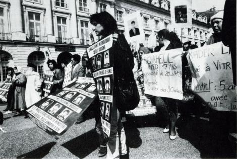 "Paris, March 21st, 1984. The ""Folles de la place Vendôme"" make a round"